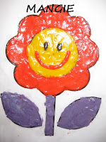 Cuadro plastilina flor
