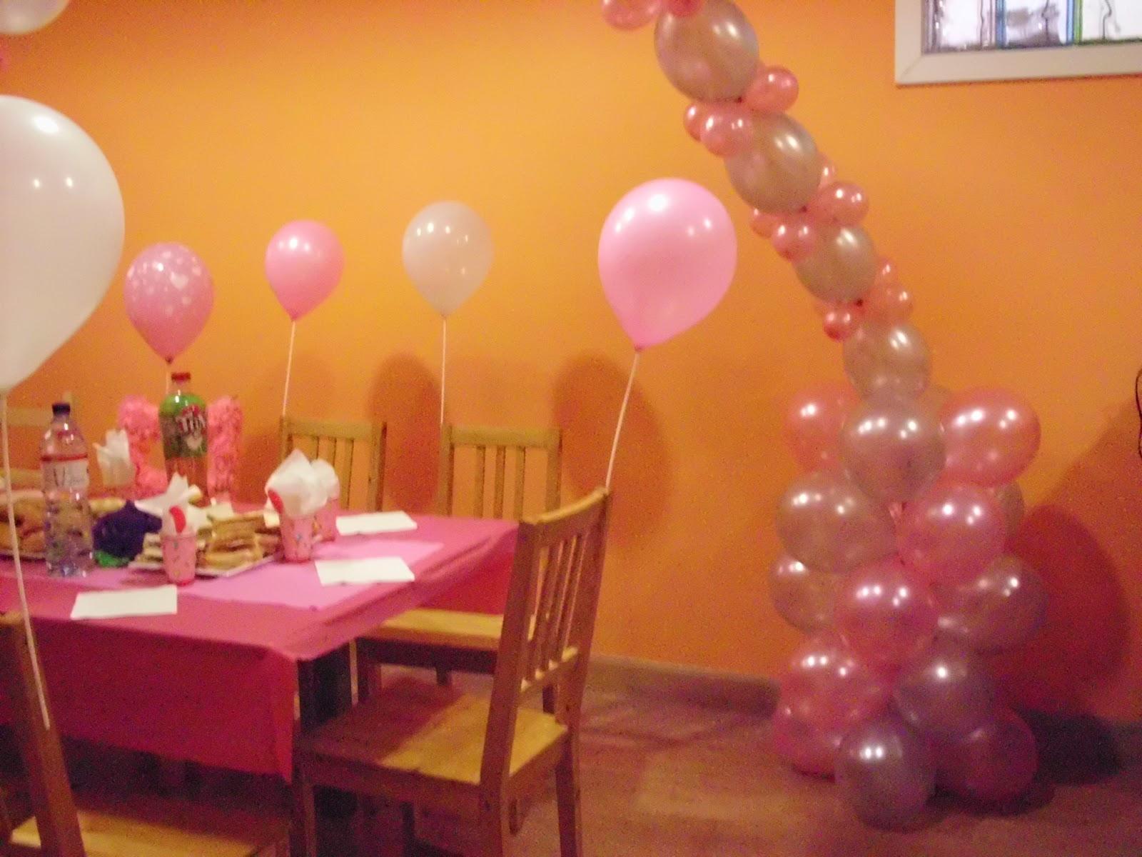Mis dulces caprichos decoracion con globos para - Decoracion de ninas ...