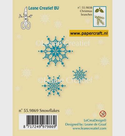Stempel Snowflakes van Leane Creatief