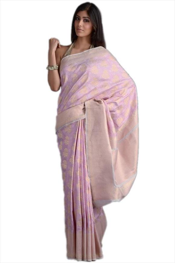 Beige Georgette Banarasi Saree