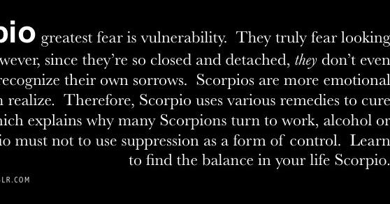 Scorpio emotional detachment