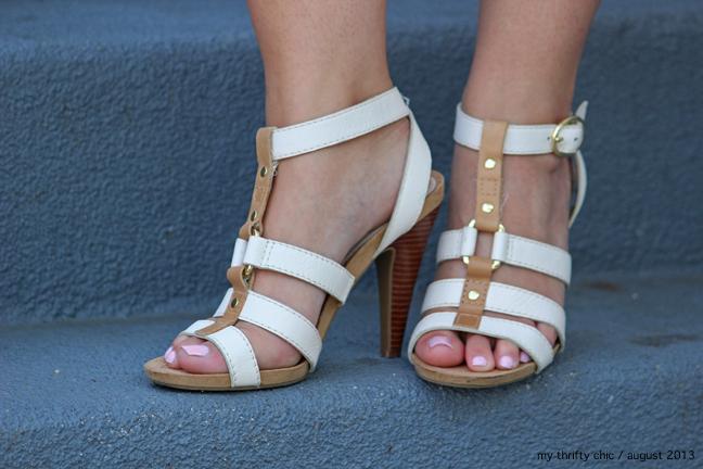 white t-strap heels