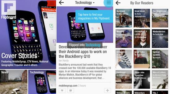 Aplikasi Flipboard Bisa Dinikmati Pengguna BlackBerry Z10