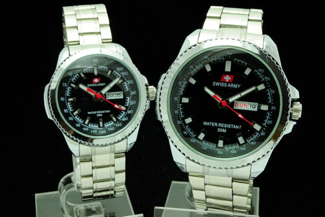 Jam Tangan Swiss Army Couple Super KW Murah Hitam