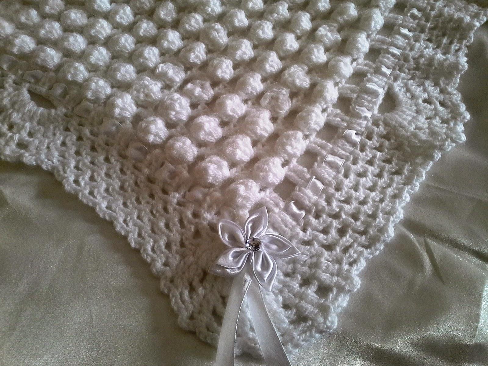 Melissa melina crochet superbe couverture pour b b au for Set de table crochet