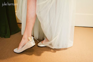 Darcie's wedding shoes - Posted by Patricia Stimac, Seattle Wedding Officiant