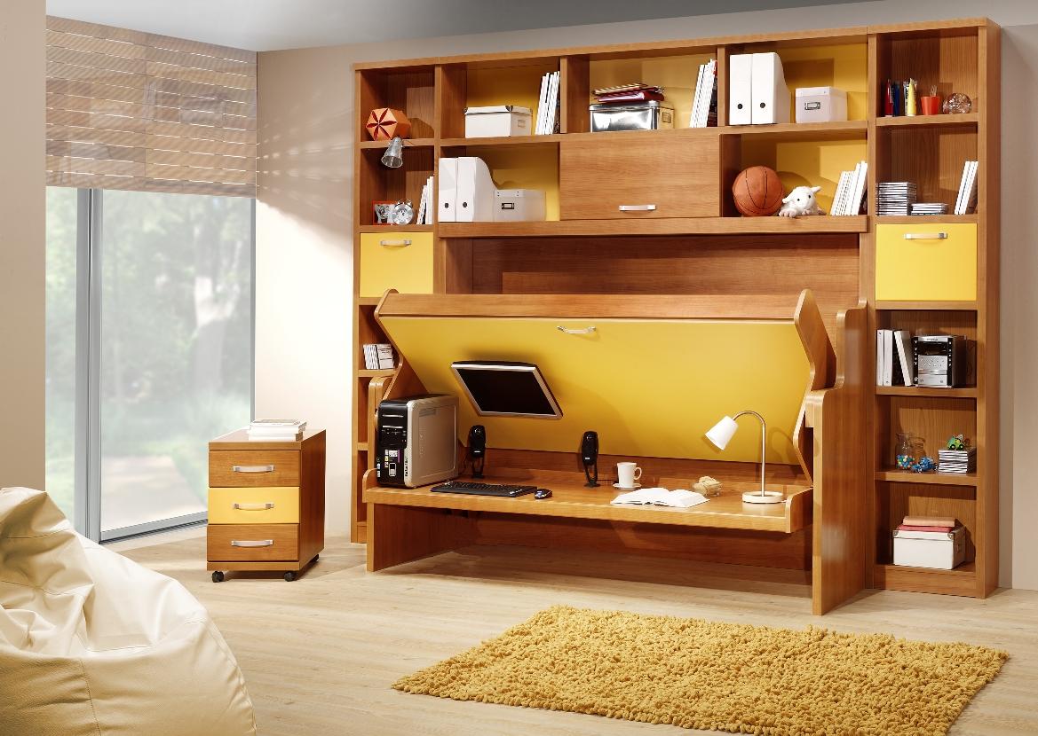 Muebles De Pared Para Dormitorio Awesome Muebles Madera Para  # Muebles Funcionales Para Ninos