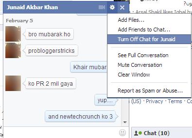 facebook new chat box design