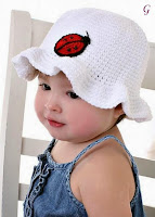 Babies Pictures | Kids in Blue Dress With White Cap Baby Images