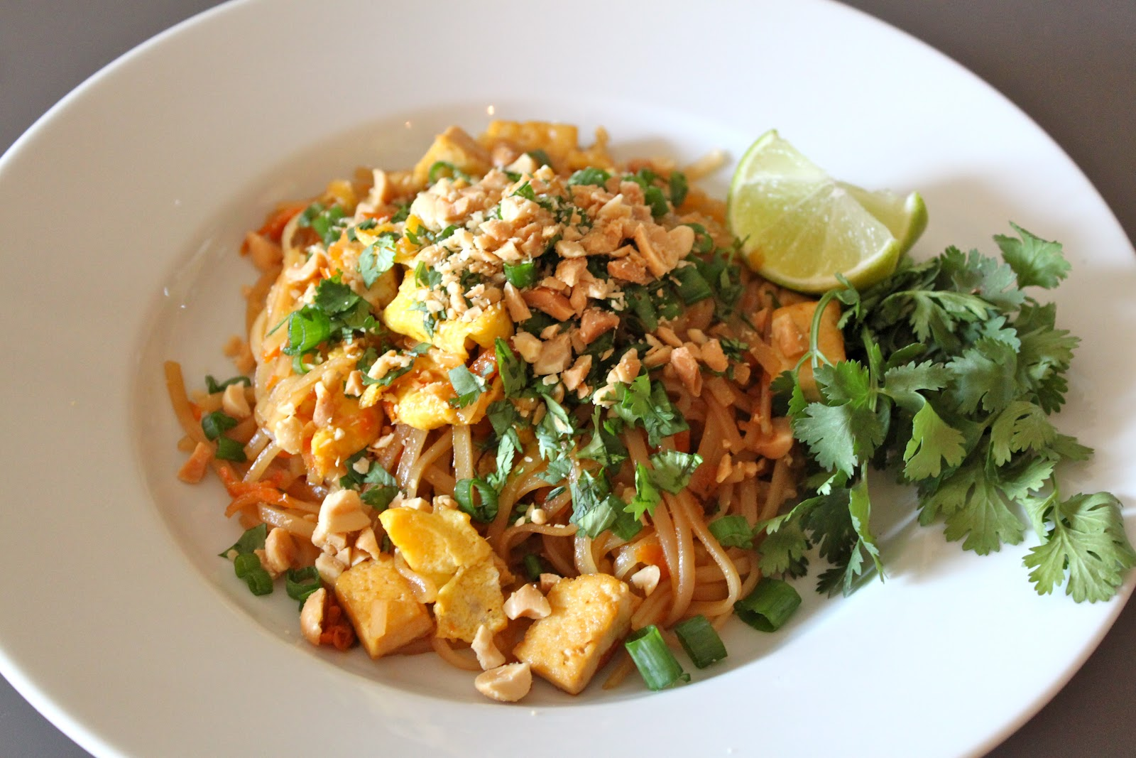 tofu pad thai is always what i order when casey and i eat out for thai ...