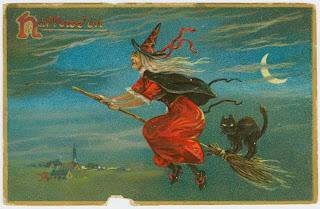 Imagen : Bruja en su escoba (Halloween)