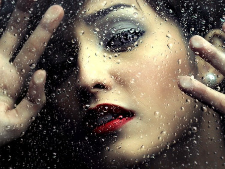 Beautiful Girl With Rain Drops