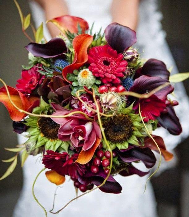 Garden of Eve: Autumnal wedding bouquets