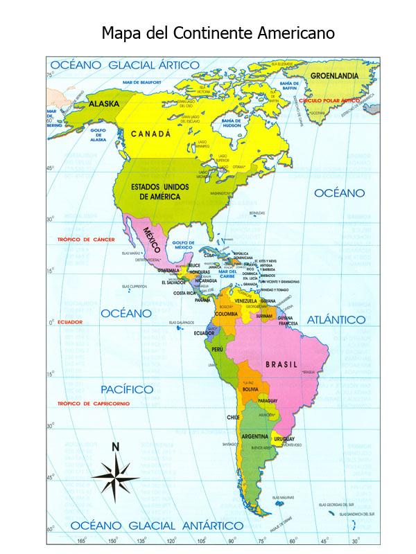 El Rincón De Los Triques Busquemos A México: Mapa Politico De America Con La Rosa Delos Vientos At Usa Maps