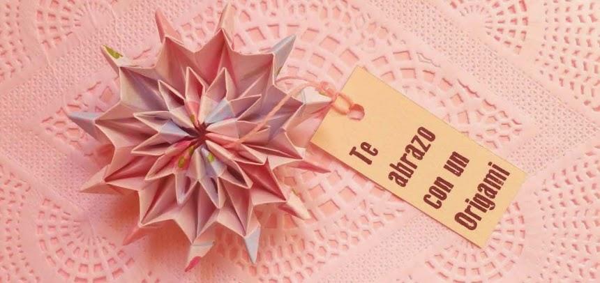Te abrazo con un origami