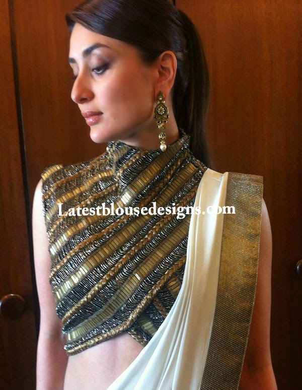 kareena kapoor saree blouse designs