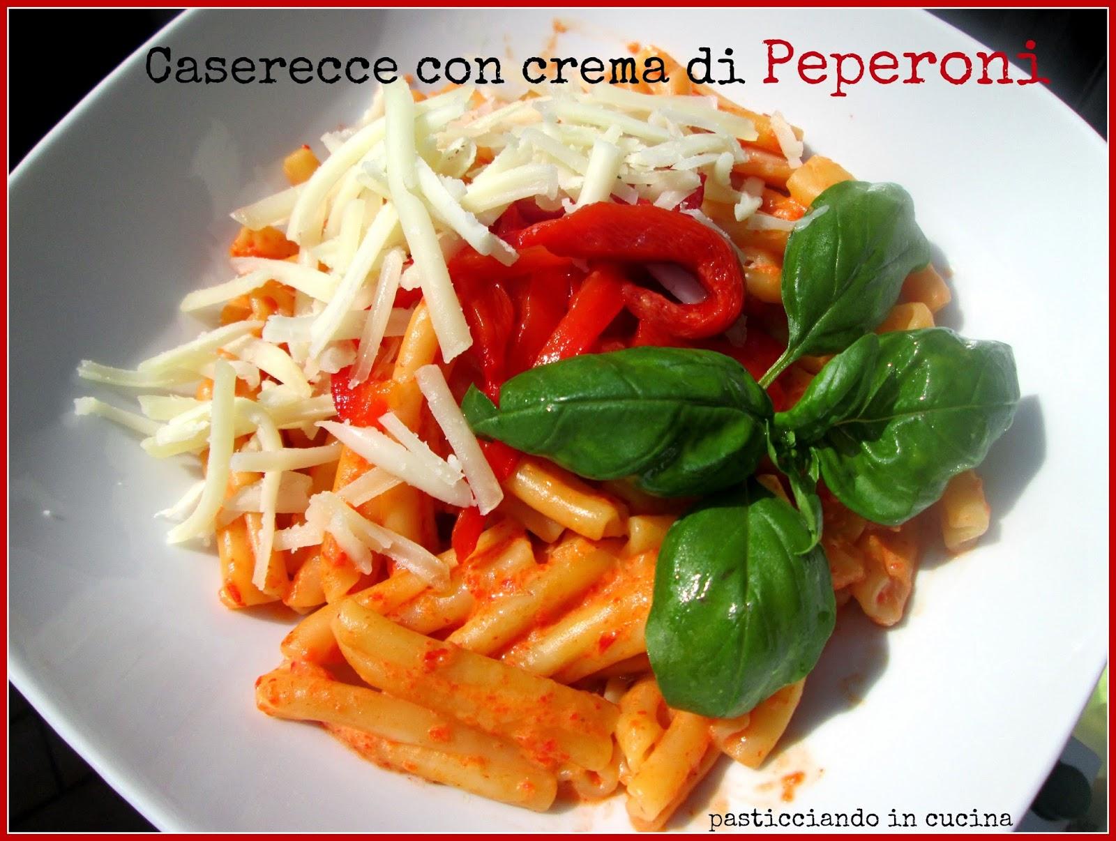 pasta con crema di peperoni e pecorino toscano
