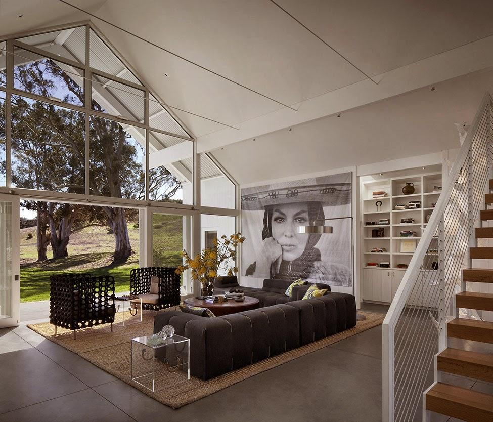 Elegante Rancho Ecológico en California, Vivienda Remodelada