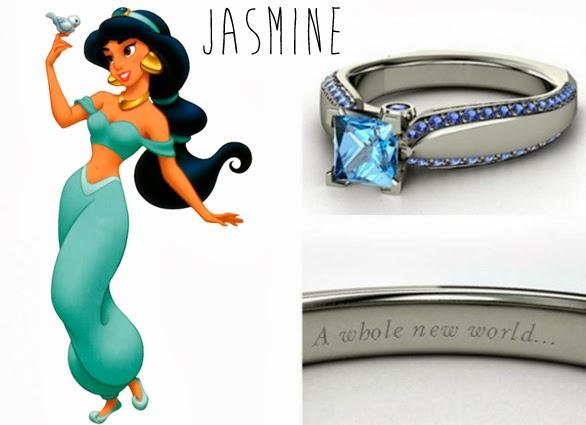 blog Mamãe de Salto aliança inspirada nas princesas da Disney Jasmine