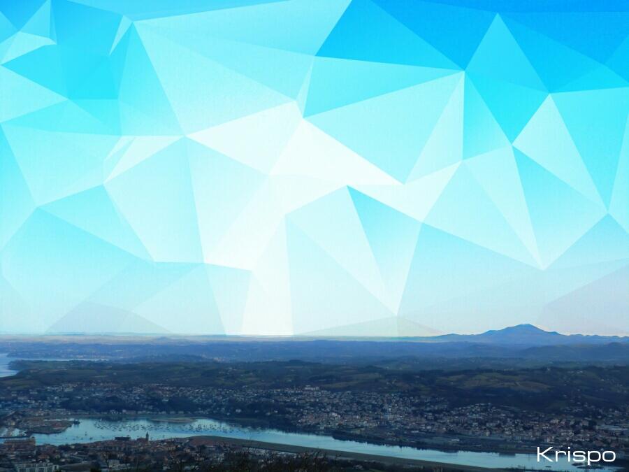 vista de monte y cielo desde mirador de jaizkibel