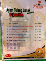 menu tempat makan enak ayam tulang lunak