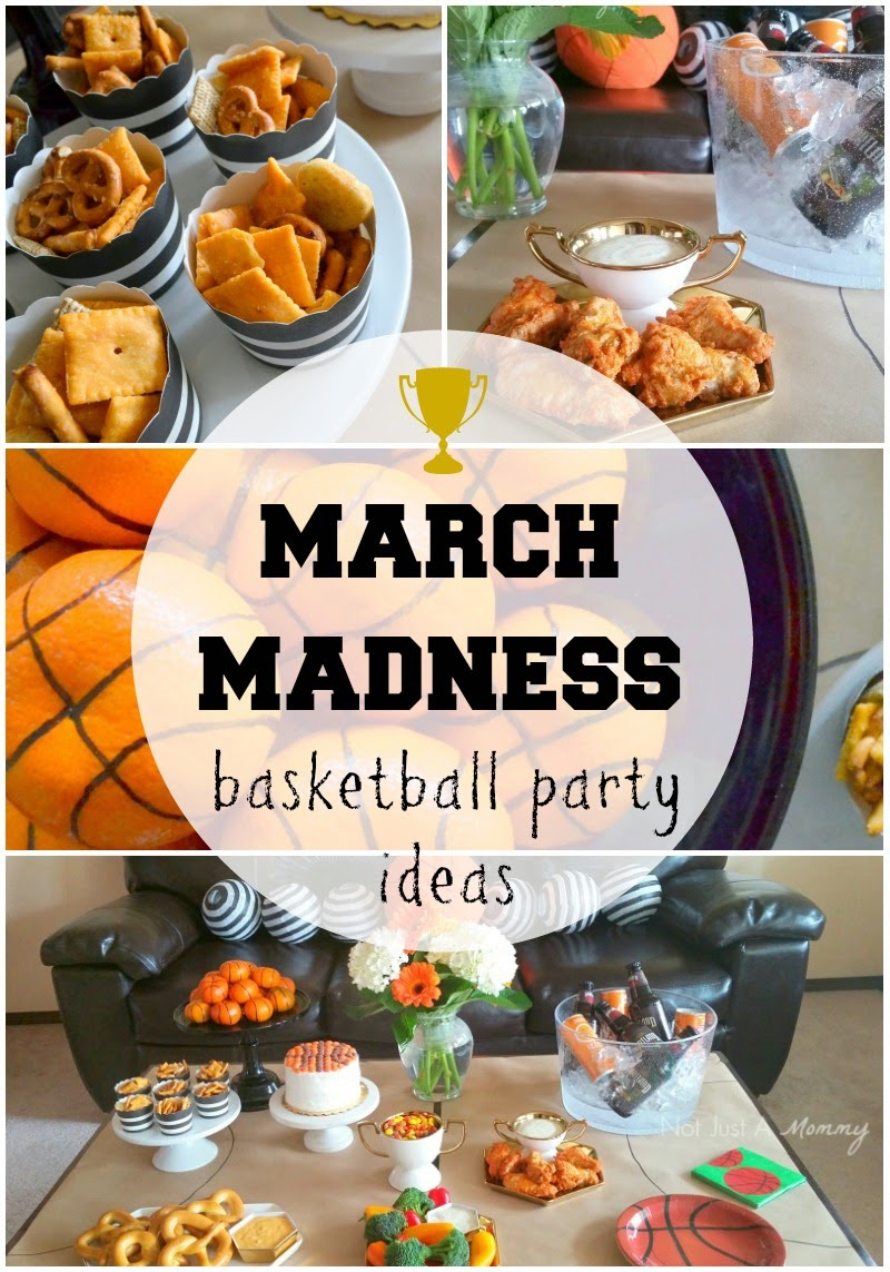 March Madness Basketball Party collage