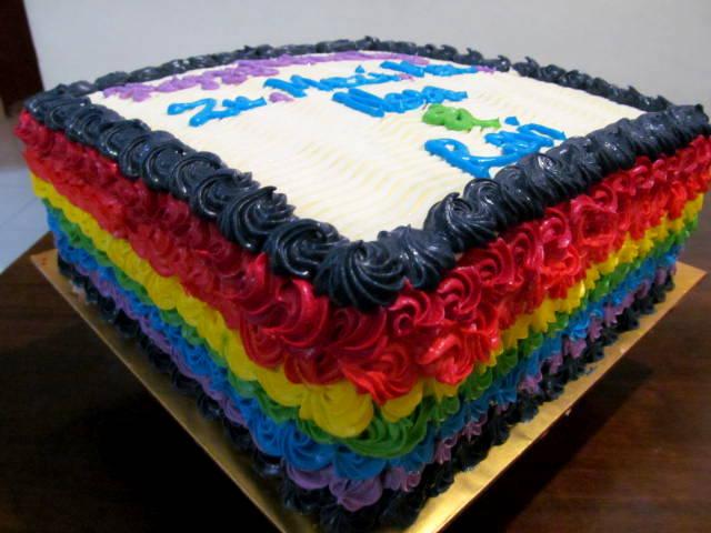 Cakes Such Mini Fruit tarts and Rainbow Cake