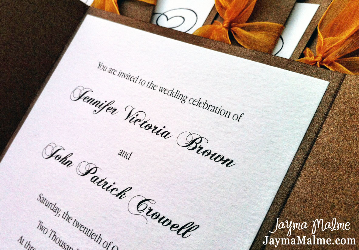 playing with paper: ctmh scrapbooks, cards & diy: fall wedding, Wedding invitations
