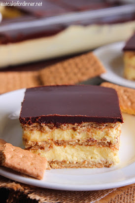 No Bake Chocolate Eclair Dessert