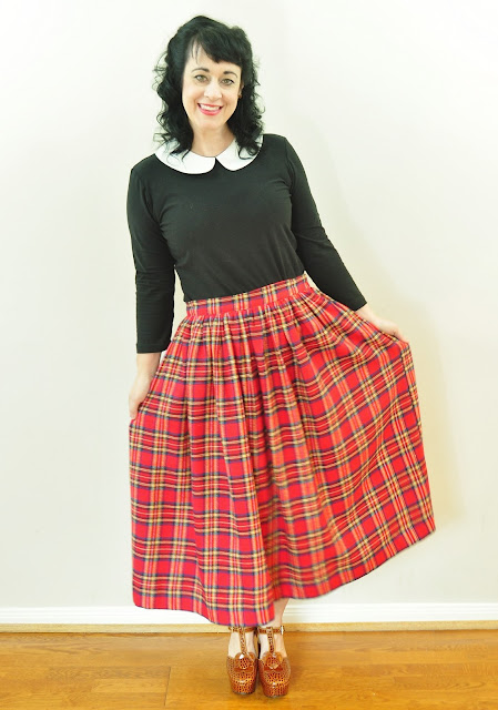 sandee royalty : Mad for Plaid! Christmas Plaid skirts and dress ...