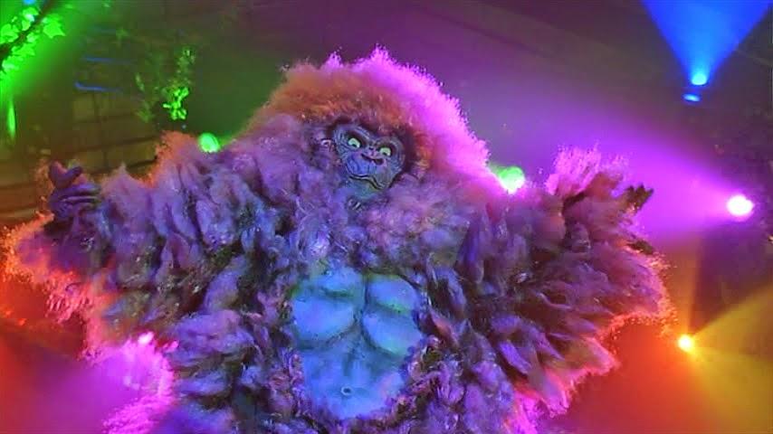 Purple Gorilla Costume Pink And a Purple Gorilla