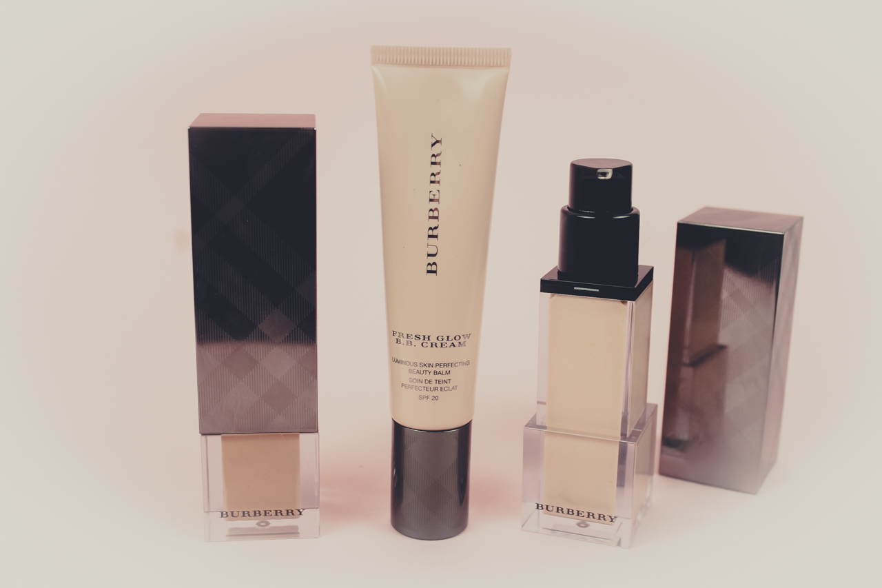 Burberry Fresh Glow Luminous Fluid Foundation, BB Cream and Primer