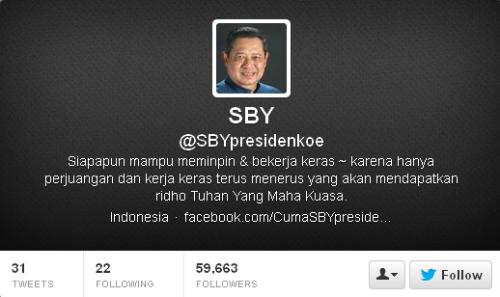 Twitter SBY @SBYpresidenkoe