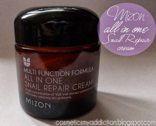 Mizon, All in one Snail Repair Cream - krem z wydzieliną ślimaka