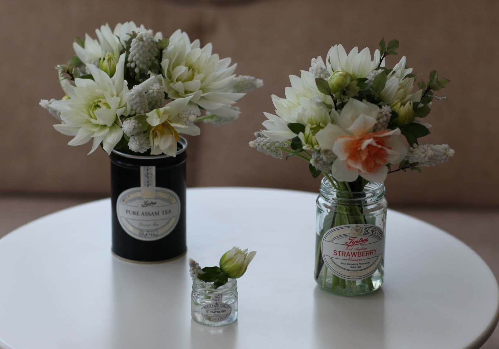 Flowers by shamini dignity and new beginnings i love making pretty and textured scented country kitchen style flowers in complementary containers i do like tiptree jars and caddies the labels izmirmasajfo