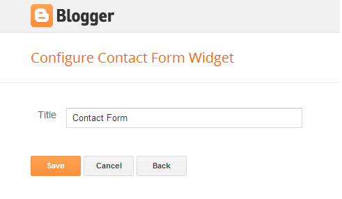 Contact form - Add Contact Us Form in Blogger
