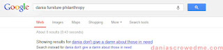 "google search results for ""dania furniture philanthropy"""