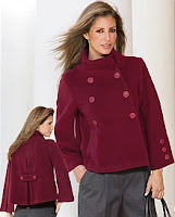 EziBuy Together Wool Blend Jacket in mulberry @ Indivdiual Chic