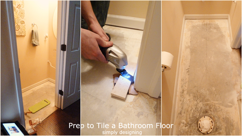Herringbone Tile Floor How To Prep Lay And Install - Installing tile floor in bathroom