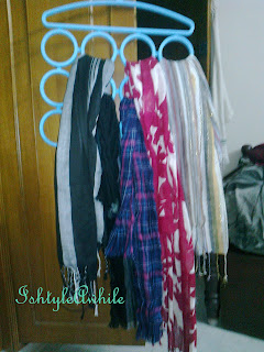 ORGANIZATION: How to arrange your scarves. image