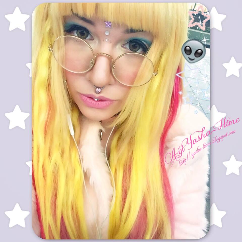 Haare sind pink geworden