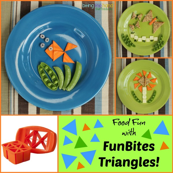 Fun easy bite-sized snacks using FunBites Squares and the new Triangles cutters!