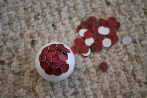 DIY, Bolas de Navidad con Cartulina