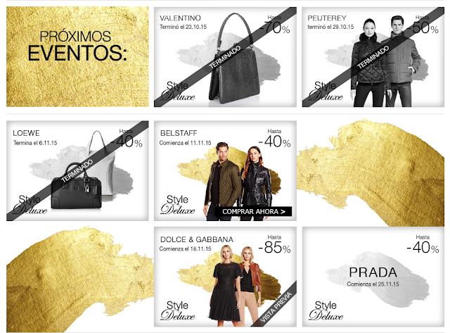 Marcas en Style de Luxe Amazon Buy-Vip noviembre 2015