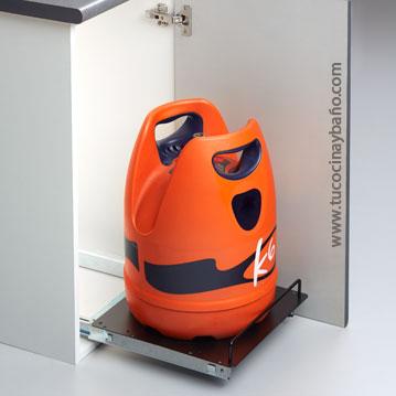 base bombona butano mueble cocina guias extraible plataforma