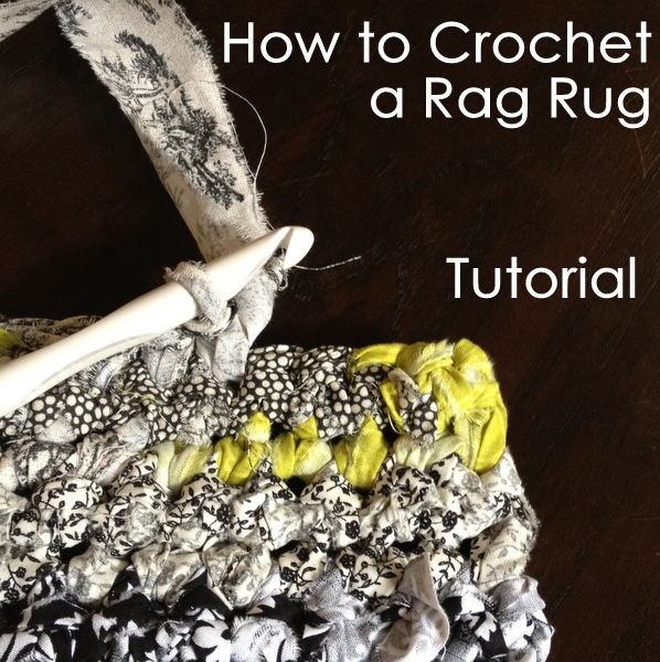 How To Crochet Tutorial Pictures : How to Crochet a Rag Rug Tutorial ? NobleKnits Knitting Blog