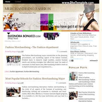 Merchandising Fashion blogger template. template image slider blog. template blog for fashion blog