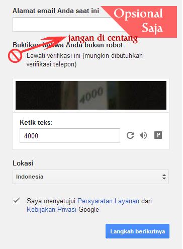 Daftar Akun Gmail