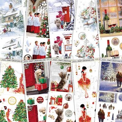 Christmas 2015 Die Cut Decoupage Pad 24 Sheets 8 Designs Acid Free