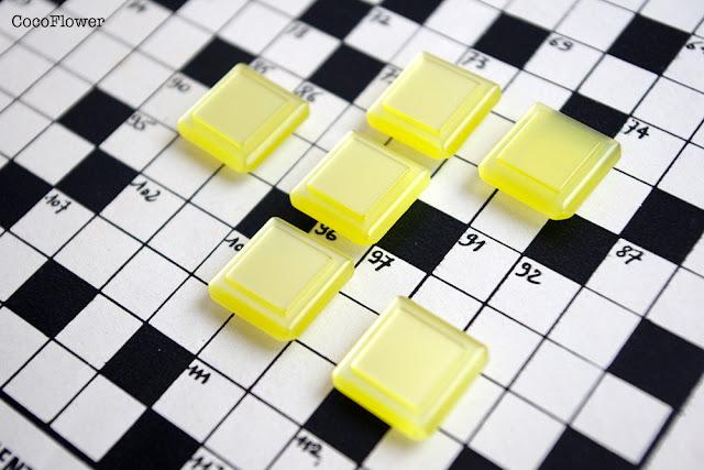 bouton vintage jaune - www.cocoflower.net